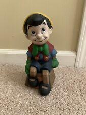 "Vintage Walt Disney Productions Pinocchio Ceramic Painted Figurine 9.5"" Tall"