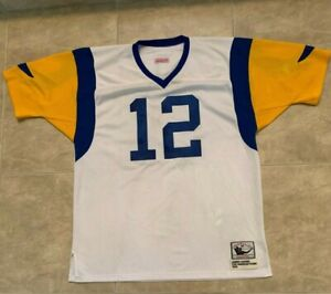 James Harris 12 Los Angeles Rams Mitchell & Ness Throwback 1974 Jersey 3XL White