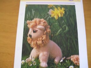 KNITTING PATTERN FOR LENNY THE LION .TOY.
