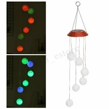 Solar Power Wind Chime Light LED Hanging Lamp Color Changing Garden Yard Decor
