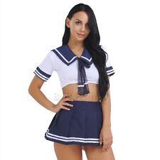 Womens Nurse School Girl Students Costume Fancy Dress Uniform Halloween Cosplay