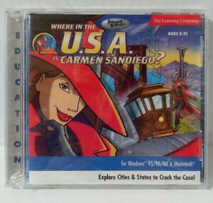 Where in the U.S.A. is Carmen Sandiego? CD-ROM Ages 8-12 The Learning Company