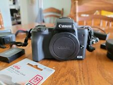 Canon EOS M50 Mirrorless Camera Body - Black - with accessories