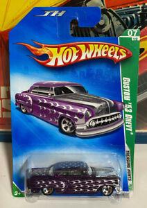Hot Wheels Treasure Hunt 2009 Custom '53 CHEVY Bel Air Purple Metallic MOC 7/12
