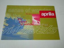 Prospectus Catalogue Brochure Moto Aprilia Gamme 1997 English