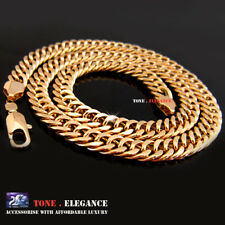 9ct 9k gold GF curb link Figaro mens womens solid necklace chain jewellery
