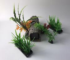New listing Fish Tank Aquarium Decorations Ornaments Hiding Tree Trunk Log Plants Resin Lot