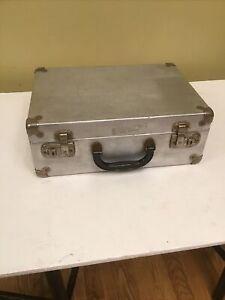 Vintage Aluminum Roller Skate Carry Case Only 14.25x10.25x5.25 No Key