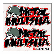 X2 PEGATINAS METAL MULISHA LAMINADO STICKERS MOTO VINILO COCHE DECAL
