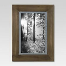 Wood with Metal Edge Frame