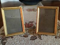 Vintage Pair Bronze French Photo Photograph Frames