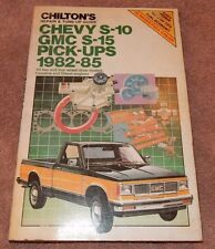 Chevy S-10, GMC S15 Pickup 1982-85 by Chilton Automotive Repair Tune Up Manual