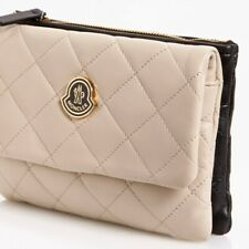 Moncler Poppy Beige Quilted Leather Convertible Clutch