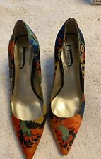 "Women's J Renee Floral  7 1/2 Stiletto Dressy Fabric 3"" Heels Shoes Pumps"