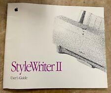 Apple StyleWriter II User's Guide P/N: 030-2637-B