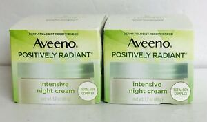 2-Pack Aveeno ~ Positively Radiant Intensive Night Cream 1.7 oz Each