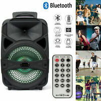 "8"" Portable FM Bluetooth Party Speaker Subwoofer Heavy Bass Sound System 1000W"