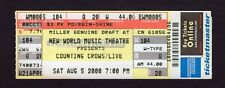 Original 2000 Counting Crows unused full concert ticket Tinley Park IL Mr. Jones