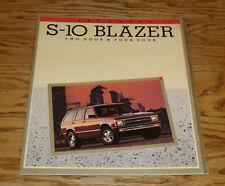 Original 1991 Chevrolet Truck S-10 Blazer Sales Brochure 91 Chevy