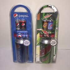 NEW Pepsi and Mtn Dew Lip Balms and Reusable Bank Cans Mountain Dew Soda Pop