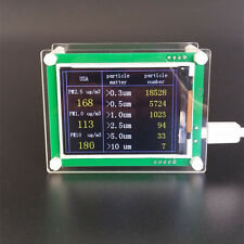 Laser PM1.0 PM2.5 PM10 Detector, with TEMP and HUMI TFT LCD display, PMS5003 G5