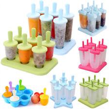 6PCS пакет льда леденец крем Maker пресс-формы сделай сам мороженное форма замороженный йогурт холодильник