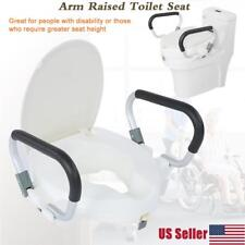 NEW Drive Medical Elevated Raised Toilet Seat with Removable Padded Arms