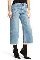 Citizens of Humanity Womens Jeans Emma High Rise Wide Leg Frayed Hem Crop Stax