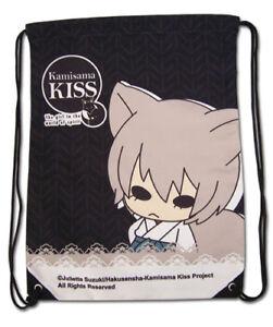 **Legit Bag** Kamisama Kiss Chibi Tomoe Nanami Black Drawstring Backpack #11817