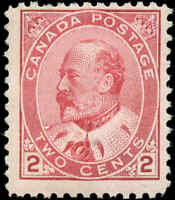 1903 Mint Canada Scott #90 2c King Edward VII Issue Stamp Hinged