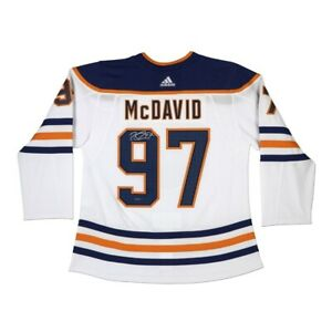 Connor McDavid Signed Autographed Authentic Jersey White Edmonton Oilers UDA