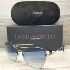 Tom Ford Annabel TF507 507 Sunglasses Gold Blue Havana 28W Authentic 58mm