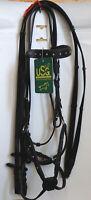 USG Trense mex., schwarz, mit Gurtzügeln, Vollblut, Strasssteinchen