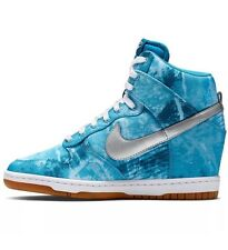 Nike Dunk Sky Hi Print Clearwater Hidden Wedge Shoes Size 8.5 Women's 543258 402