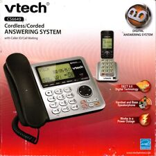 VTECH CS6649 DECT 6.0 CORDLESS AND CORDED PHONE SYSTEM WITH ANSWERING - NEW