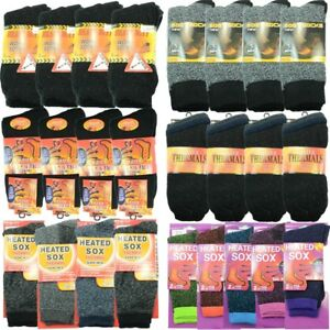 12 Pairs For Mens Heavy Duty Winter Warm Boots Wool Cotton Crew Socks Size 5-15