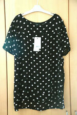 Next Black Polka Dot Sheer Print Tunic Top Size 14 BNWT Tag £26