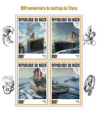 Niger 2017 MNH Titanic 105th Anniv 4v M/S Boats Ships Nautical Stamps