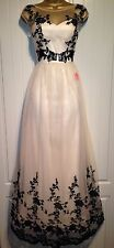 BNWT CHI CHI LONDON 'LORNA' FLORAL LACE TULLE MAXI EVENING DRESS BALL GOWN UK 16