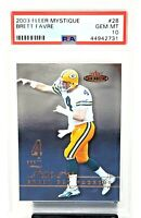 2003 Fleer Mystique HOF Packers BRETT FAVRE Football Card PSA 10 GEM MINT Pop 6