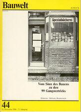 """IBA Berlin '87: Bauwelt 44 -1980 ua. """"WB-Ergebnis Wohnen in der Friedrichstadt""""."""