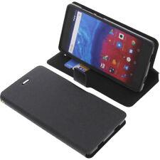 Tasche für Archos Core 50 Smartphone Book-Style Schutz Hülle Buch Schwarz