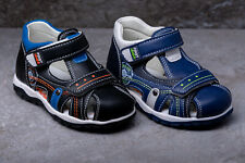 Sandals Boys Navy Black Real Leather Insoles sizes 4.5 - 8.5