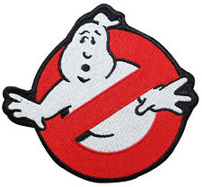 HOOK GHOSTBUSTERS GHOST MOVIE LOGO EMBROIDERED HOOK 3 INCH PATCH