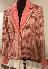 True Meaning Multi Tweed Embroidered Blazer Jacket Size 12Long Sleeve