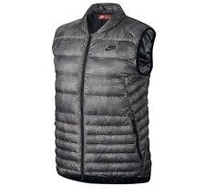 Nike Men's Sportswear Down Fill Print Gilet Vest Grey Packable Body Warmer XS