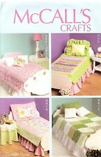 Make Doll Quilt Linens PATTERN fit AG 18in dolls McCalls 6718 Craft Bed room DIY