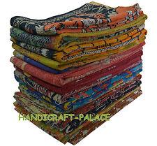 Vintage Handmade Kantha Quilt Reversible Throw Gudri Wholesale Indian 10 pc Set