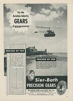 1952 Sier Batch Precision Gears Ad Aviation Bell Aircraft Helicopter Copter