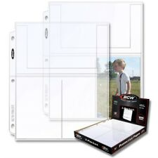 """Package of 10 BCW Pro 3-Pocket Pages 4"""" x 6"""" Pockets for Postcards and Photos"""